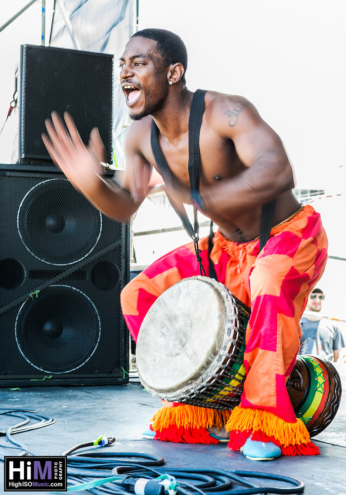 The Kumbuka African Drum and Dance Collective performs at the 2012 Jazz and Heritage Festival in New Orleans, LA on May 4, 2012.  © HIGH ISO Music, LLC / Retna, Ltd., (© HIGH ISO Music, LLC / Retna, Ltd.,)