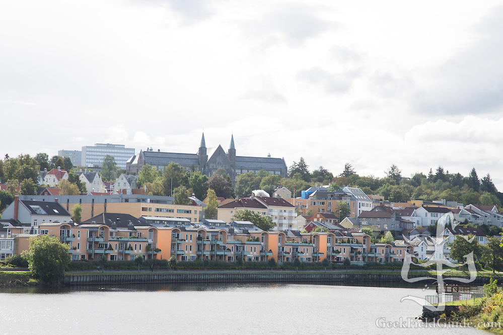 Norwegian University of Science and Technology, Trondheim, as seen from the banks of the Nidelva. (Warren Schultz)