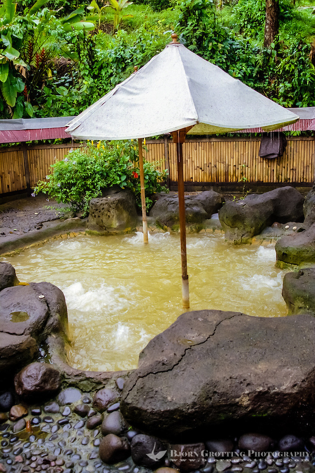 Bali, Tabanan, Yeh Panes. Hot springs and spa. Here you can submerge yourself in healthy hot water. (Photo Bjorn Grotting)