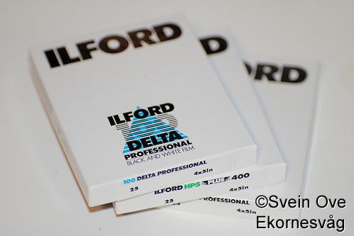 "Ilford 4x5"" storformatsfilm. Foto: Svein Ove Ekornesvåg (Svein Ove Ekornesvåg)"