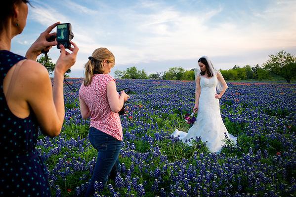 Photo shoot in the bluebonnets, Bastrop County, Texas. (Darren Carroll)
