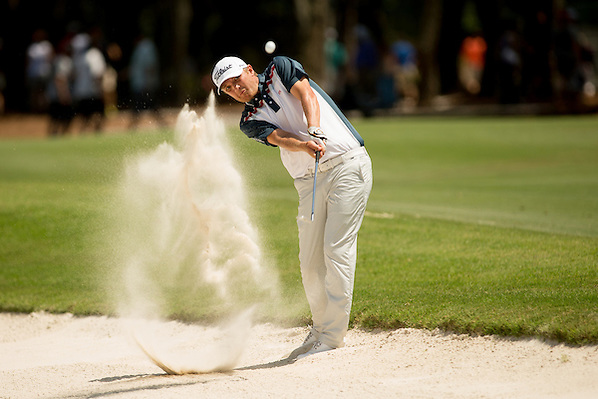 Matt Jones plays out of a bunker at the 15th hole. PGA Golf: 2014 The Players Championship Friday round 2 TPC Sawgrass/Ponte Vedra, FL 5/9/2014 X158187 TK2 Credit: Darren Carroll (Darren Carroll/Sports Illustrated)