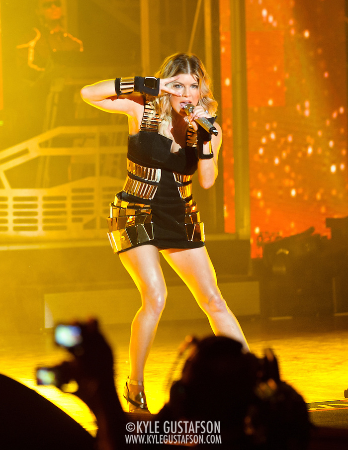 "COLUMBIA, MD - June 9th, 2011: Fergie of the Grammy Award-wining hip-hop group The Black Eyed Peas performs at Merriweather Post Pavilion in Columbia, MD. The group recently released the single ""Don't Stop The Party"" from their sixth studio album, The Beginning. (Photo by Kyle Gustafson/For The Washington Post) (Kyle Gustafson/FTWP)"