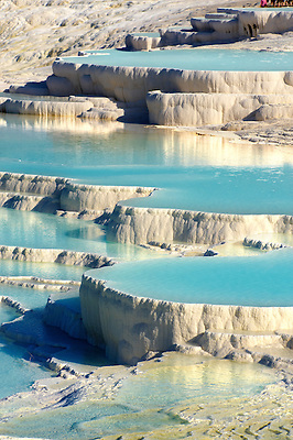 Photo & pictures  of Pamukkale Travetine Terrace, Turkey. Photography of the white Calcium carbonate rock formations. Buy as stock photos or as photo art prints. 2 (Paul E Williams)