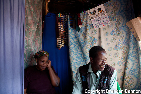 Husband and wife photohrapers,Teresa Atieno and Peter Otieno at  their studio in Kibera, Nairobi. (Brendan Bannon)
