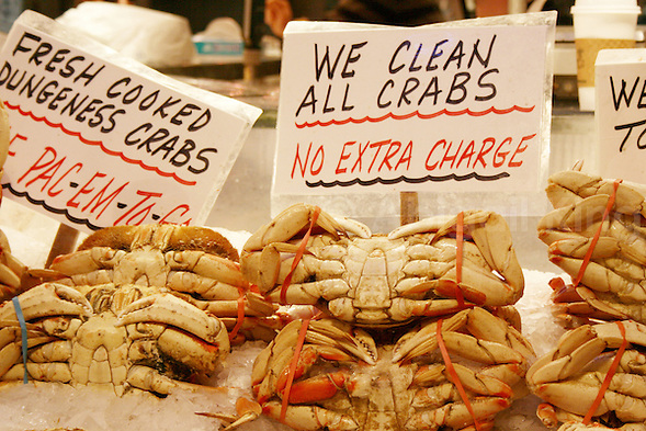 Crabs for sale in Seattle Pike Place Market