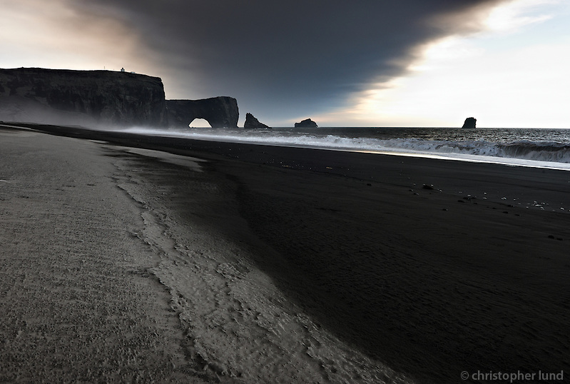 Ashfall from Volcano Eyjafjallajökull on Dyrhólaey beach, South Iceland. (Christopher Lund/©2010 Christopher Lund)
