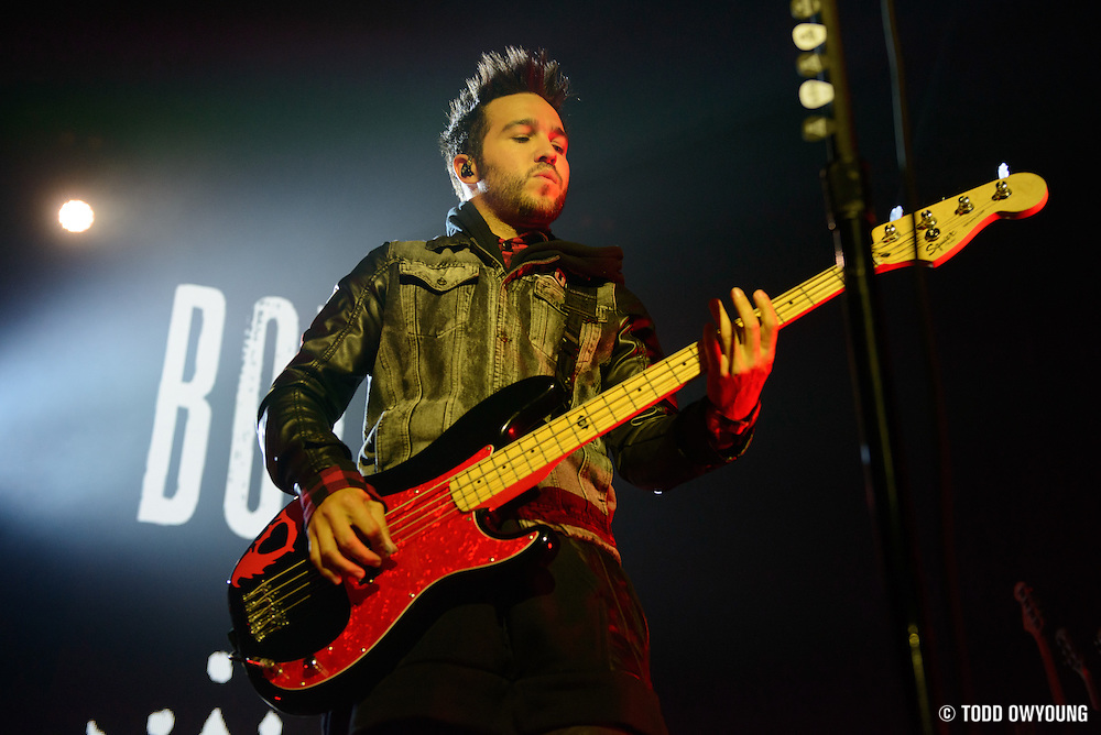 """Fall Out Boy performing to a sold out crowd at the Pageant in St. Louis on June 28, 2013 on their tour for """"Save Rock and Roll."""" (Todd Owyoung)"""