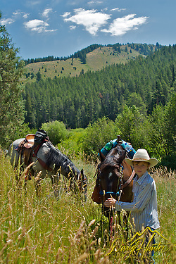 Young Cowboy on trail ride in Swan Valley Idaho (Daryl Hunter)
