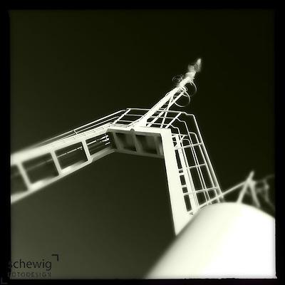 Mast am Faehrschiff, Kroatien (Dieter Schewig)