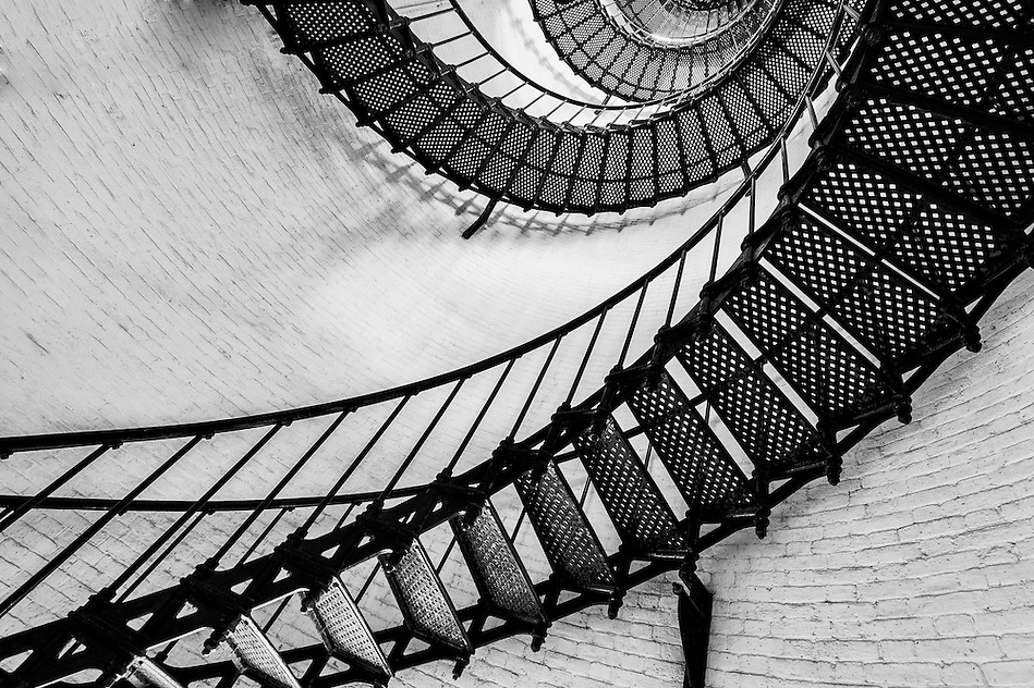 View of the spiral starircase inside the St. Augustine Lighthouse (Daniel Korzeniewski)