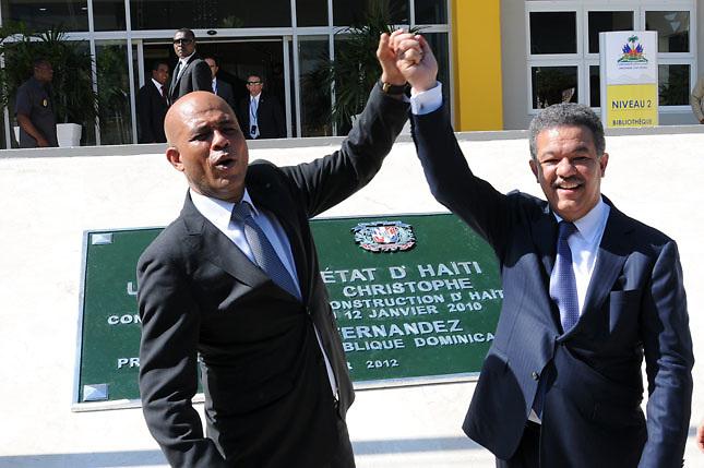 Michel Martelly y Leonel Fernández