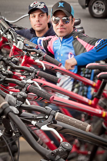 Brothers and partners, Pablo and Rodolfo Portillo, Pablo's Bicycle Rental, downtown Anchorage (Clark James Mishler)