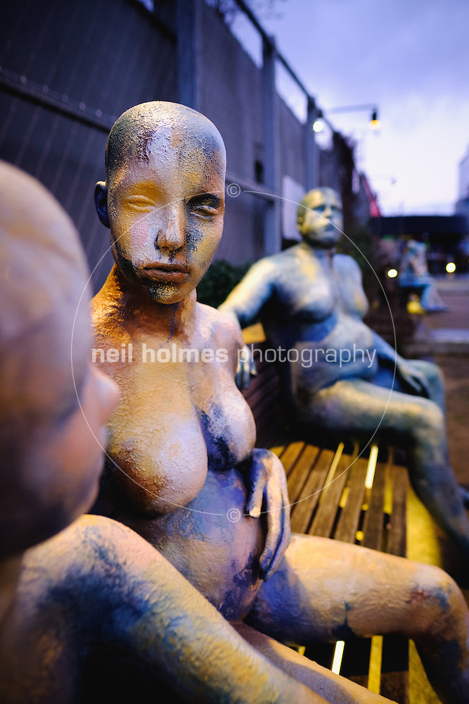 City Centre, Kingston Upon Hull, East Yorkshire, United Kingdom, 04 January, 2017. Pictured: City of Culture, Made in Hull, Ala Lloyd's Shop mannequins, Scale Lane Staith (Neil Holmes)