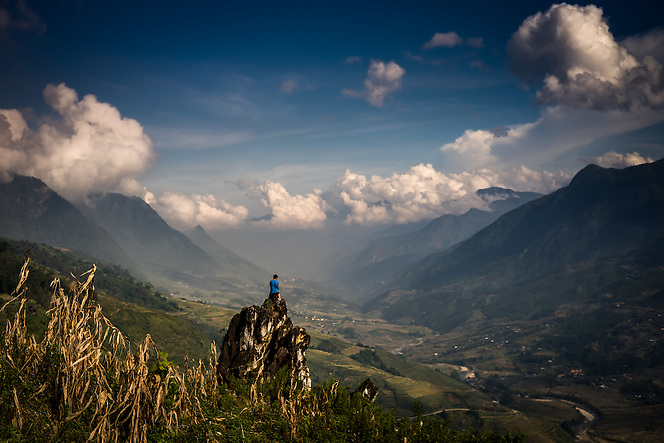 A visitor takes in the view of one of the many grand valleys around Sapa, northern Vietnam (Quinn Ryan Mattingly)