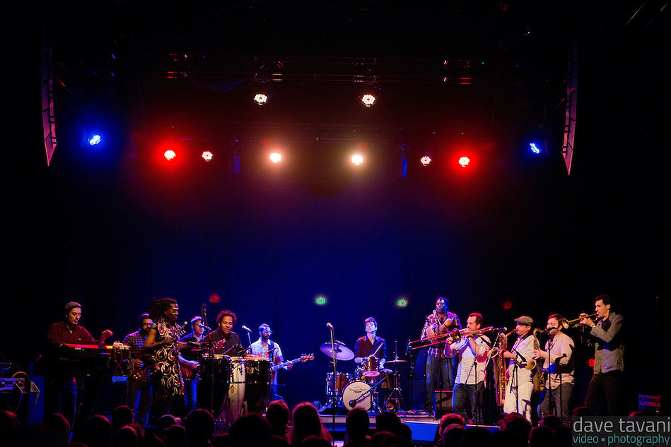 Antibalas performs at Union Transfer in Philadelphia on December 13, 2012. (Dave Tavani)