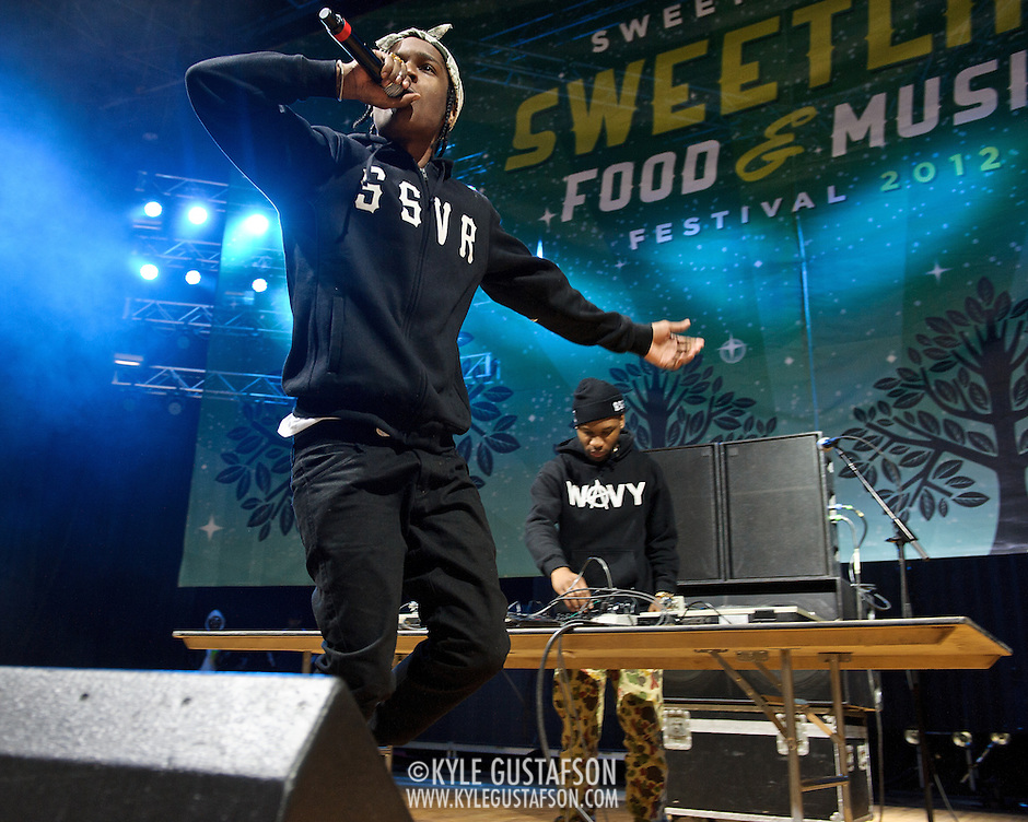 COLUMBIA, MD - April 28th, 2012 -  Rapper A$AP Rocky performs at the 2012 Sweetlife Food and Music Festival at Merriweather Post Pavilion in Columbia, MD. After a string of successful mixtapes, his debut album, LongLiveA$AP, is scheduled to be released in July 2012. (Photo by Kyle Gustafson/For The Washington Post) (Kyle Gustafson/FTWP)