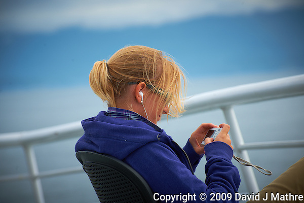 Christine Chimping on the Alaska Marine Highway. Image taken with a Nikon D3x camera and a 70-300 mm VR lens (ISO 100, 195 mm, f/8, 1/500 sec). (David J. Mathre)