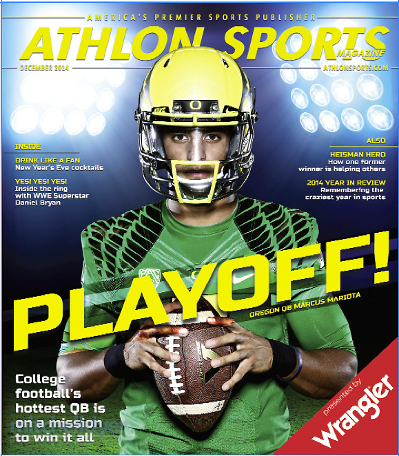 Marcus Mariota poses for a photo in Athlon Sports Magazine. Photo by Craig Mitchelldyer www.craigmitchelldyer.com (Craig Mitchelldyer)