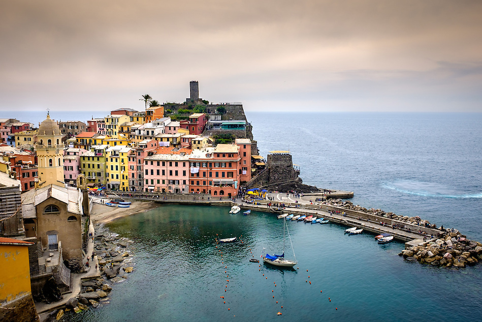 VERNAZZA, ITALY - CIRCA MAY 2015: View of Vernazza in Cinque Terre, Italy. (Daniel Korzeniewski)