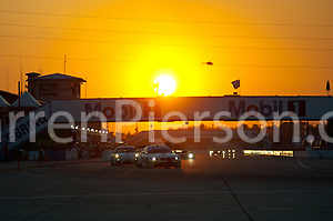Sunset at Sebring #56 BMW Motorsport BMW M3 GT: Andy Priaulx, Dirk Mueller, Joey Hand (Darren Pierson)