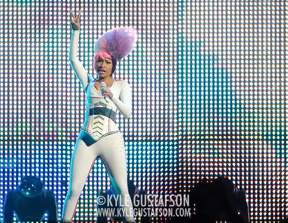 WASHINGTON, D.C. - April 3, 2011 - Nicki Minaj performs during the 'I Am Still Music' tour at the Verizon Center on April 3, 2011 in Washington, D.C.. (Photo by Kyle Gustafson/For The Washington Post) (Photo by Kyle Gustafson / For The Washington Post)