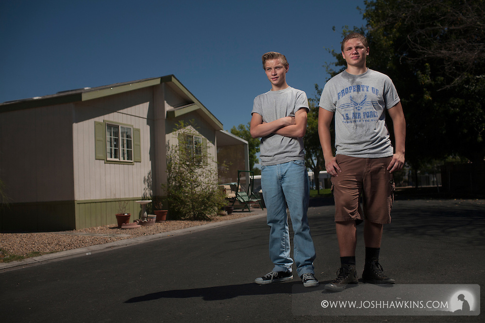 After escaping their burning home, Diego and Draven Avila broke through windows to return so that they could save their 14 year old brother who was trapped inside. (Josh Hawkins)
