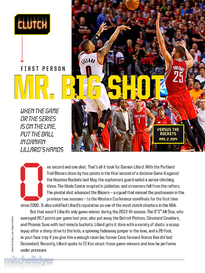 Damian Lillard in Sports Illustrated for Kids. Photo by Portland Oregon Photographer Craig Mitchelldyer www.craigmitchelldyer.com (Craig Mitchelldyer)