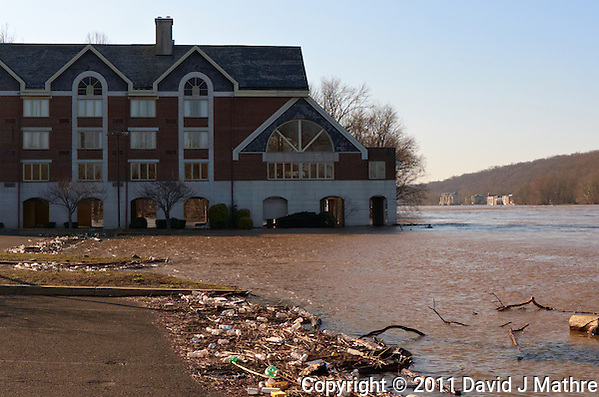 Delaware River -- Flood Stage. Lambertville Inn. Image taken with a Leica D-Lux 5 (ISO 100, 10.7 mm, f/4, 1/800 sec). (David J Mathre)