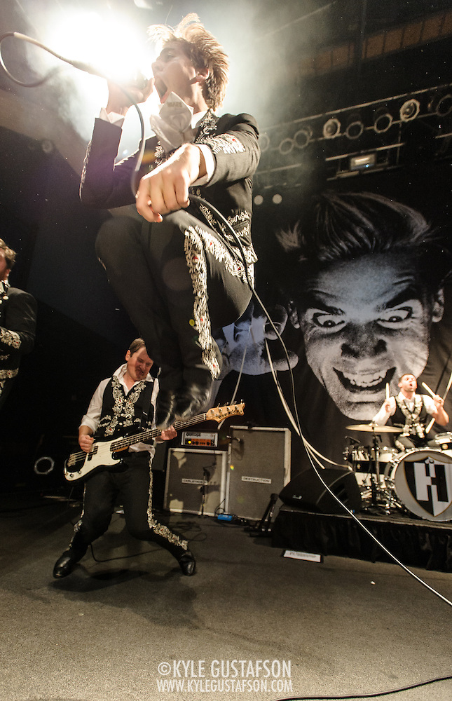 WASHINGTON, DC - December 10th, 2013 - The Hives, the world's greatest rock 'n roll band, perform at the 9:30 Club in Washington, D.C. (Photo by Kyle Gustafson / www.kylegustafson.com) (Photo by Kyle Gustafson)
