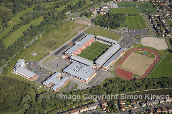 Leigh Sports Village from the Air - Aerial Photography Simon Kirwan