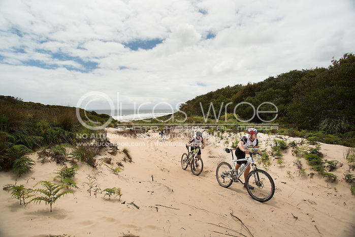Team Swisse Wellness (Amanda Boddie, William McWhirter and Leigh Small). Adventure Racing. Swisse Mark Webber Challenge 2013. Tasmania, Australia. 29/11/2013. Photo By Lucas Wroe (Lucas Wroe)