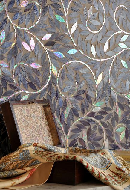 Jacqueline Vine shown in Amethyst glass. (New Ravenna Mosaics 2010)