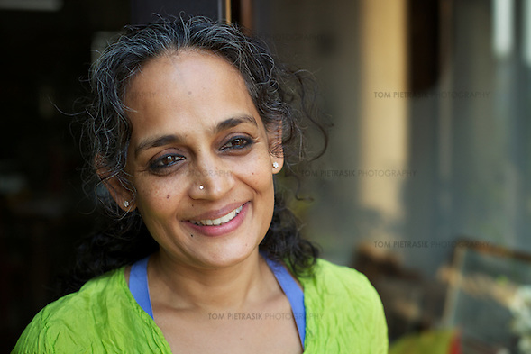 Author Arundhati Roy at her home in New Delhi...Photo: Tom Pietrasik.New Delhi.January 26th 2011 (Tom Pietrasik)