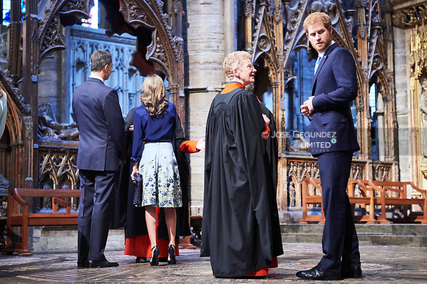 King Felipe VI of Spain, Queen Letizia of Spain, Prince Harry Visit to Westminster Abbey and a tribute to the fallen on July 13, 2017 in London. (© JOSE GEGUNDEZ)