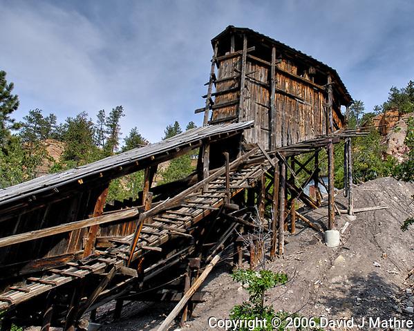 Aladdin Coal Mine Tipple. Aladdin Historical Interpretive Park, Cook County. Image taken with a Nikon D200 camera and 18-70 mm kit lens. (David J Mathre)