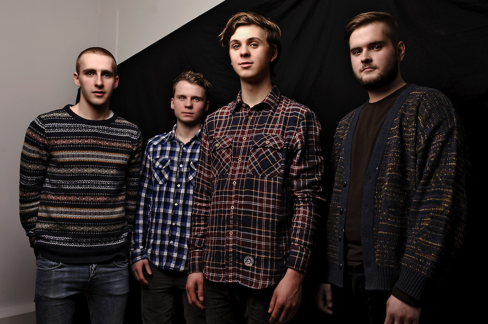 Portraits of Icelandic post rock band Lockerbie photographed in Reykjavik, Iceland. January 27, 2012. Copyright © 2012 Matthew Eisman. All Rights Reserved. (Matthew Eisman)