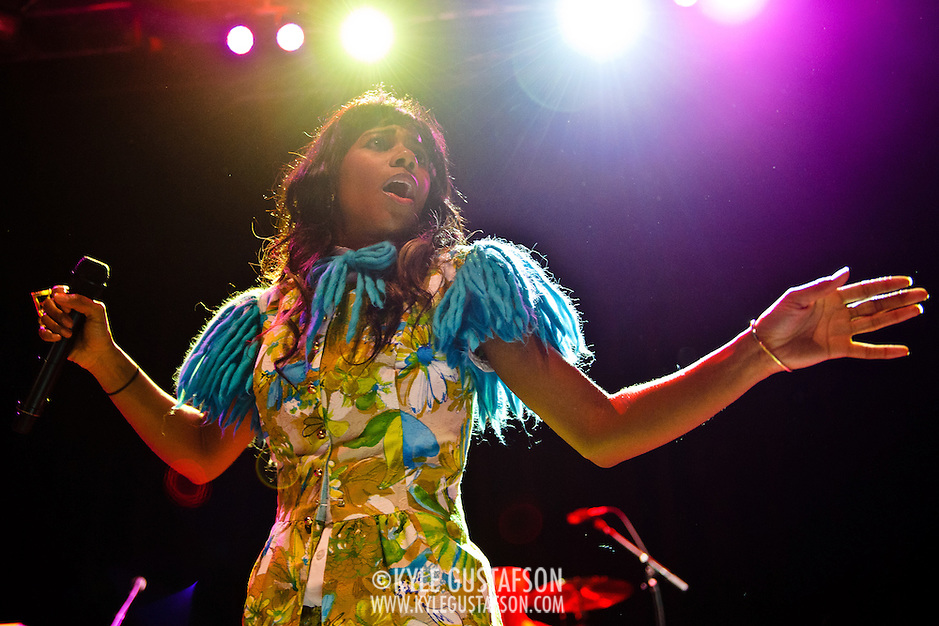 WASHINGTON, DC - June 18th, 2012 - Santi White, aka Santigold, performs a sold out show at the 9:30 Club in Washington, D.C. White released her sophomore album,  Master of My Make-Believe, in April. (Photo by Kyle Gustafson/For The Washington Post) (Kyle Gustafson/For The Washington Post)