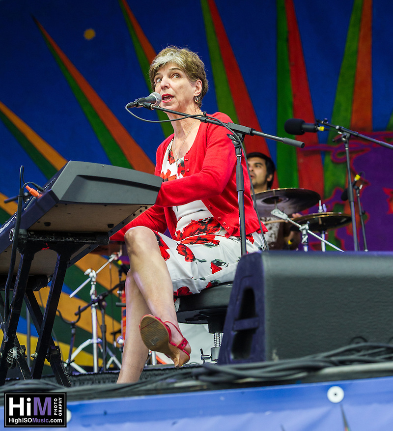 Marcia Ball and her band perform at the 2013 Jazz and Heritage Festival in New Orleans, LA on May 3, 2013.  © HIGH ISO Music, LLC / Retna, Ltd. (HIGH ISO Music, LLC)