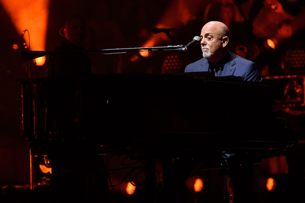 Photos of the musician Billy Joel performing live on stage at Madison Square Garden in New York, NY on August 9, 2016. © Matthew Eisman/ Getty Images. All Rights Reserved (Photo by Matthew Eisman/ Getty Images)