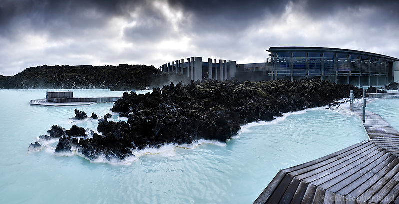 The Blue Lagoon geothermal spa is one of the most visited attractions in Iceland. The warm waters are rich in minerals like silica and sulphur.The lagoon is fed by the water output of the nearby geothermal power plant Svartsengi and is renewed every 2 days. ©2010 Christopher Lund)