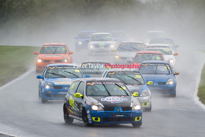 #34 Scott Sharp Renault Clio 128 during K-Tec Racing Clio 182 Championship as part of the 750 Motor Club at Oulton Park, Little Budworth, Cheshire, United Kingdom. April 01 2017. World Copyright Peter Taylor/PSP. Copy of publication required for printed pictures.  Every used picture is fee-liable. http://archive.petertaylor-photographic.co.uk (Peter Taylor/PSP)