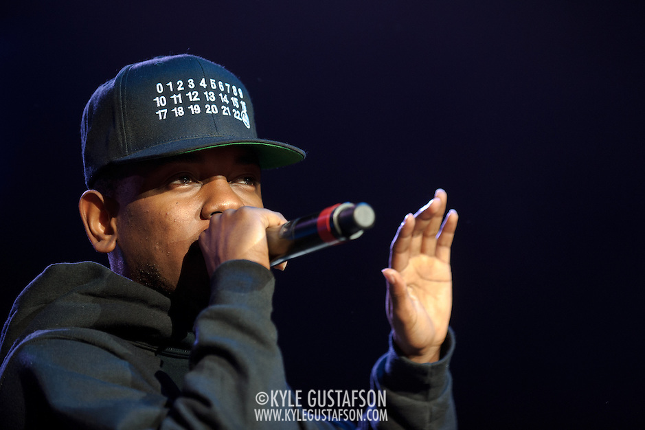 COLUMBIA, MD - May 11th,  2013 -   Kendrick Lamar performs on the Main Stage at the 2013 Sweetlife Music and Food Festival at Merriweather Post Pavilion in Columbia, MD.  (Photo by Kyle Gustafson/For The Washington Post) (Kyle Gustafson/For The Washington Post)