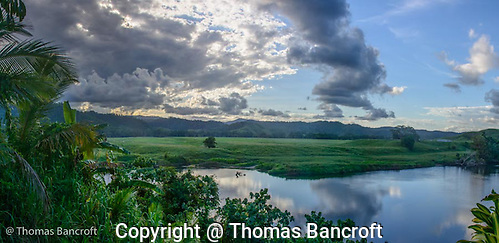 Storm clouds form over the Daintree River. (G. Thomas Bancroft)