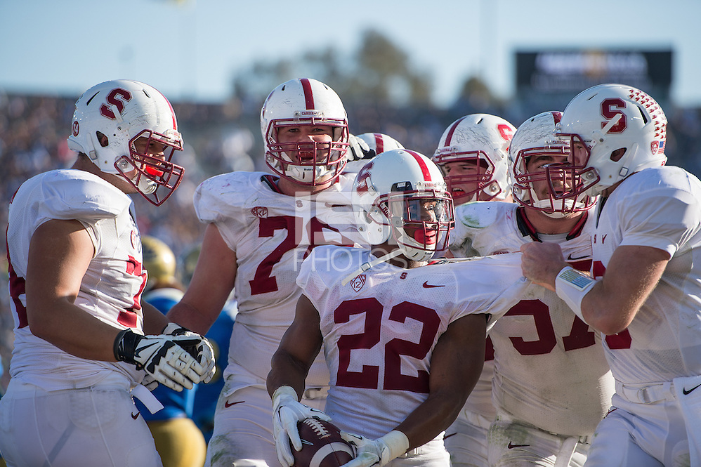 PASADENA, CA - November 28, 2014: The Stanford Cardinal vs the UCLA Bruins at the Rose Bowl in Pasadena, California. Final score, Stanford Cardinal 31, UCLA Bruins 10. (David Bernal/isiphotos.com)