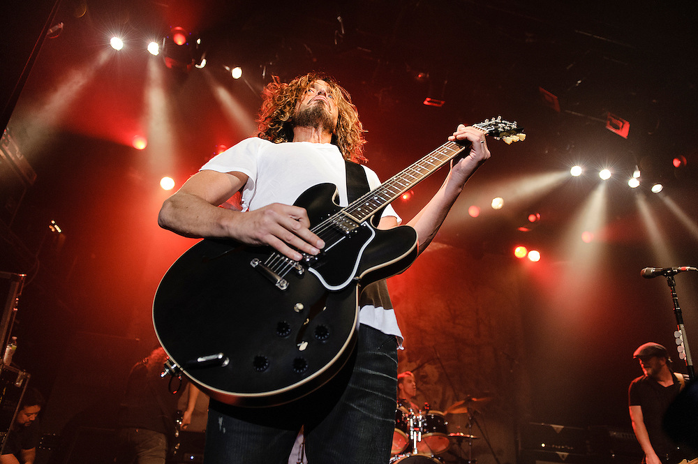 Photos of the rock band Soundgarden performing live at Irving Plaza, NYC. November 13, 2012. Copyright © 2012 Matthew Eisman. All Rights Reserved. (Photo by Matthew Eisman/ WireImage)