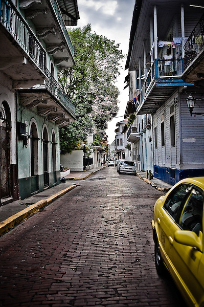 The view down a side street in Casco Viejo. (Jesse Justice)