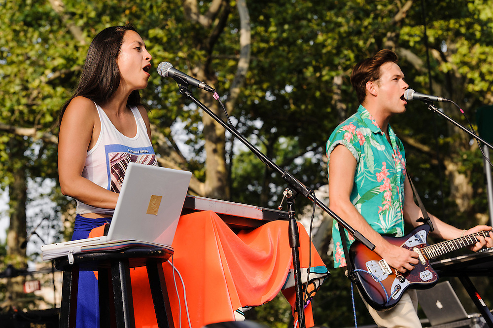 Photos of the band St. Lucia performing at Central Park Summerstage, NYC. July 16, 2012. Copyright © 2012 Matthew Eisman. All Rights Reserved. (Photo by Matthew Eisman/WireImage)