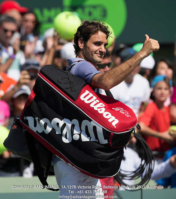 ROGER FEDERER (SUI) Tennis - Sony Open - ATP-WTA -  Miami -  2014  - USA  -  21 March 2014.  © AMN IMAGES (FREY/FREY- AMN Images)