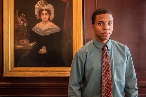 Charles at the front desk of the historic Marshall House, Savannah, GA. (© Clark James Mishler)